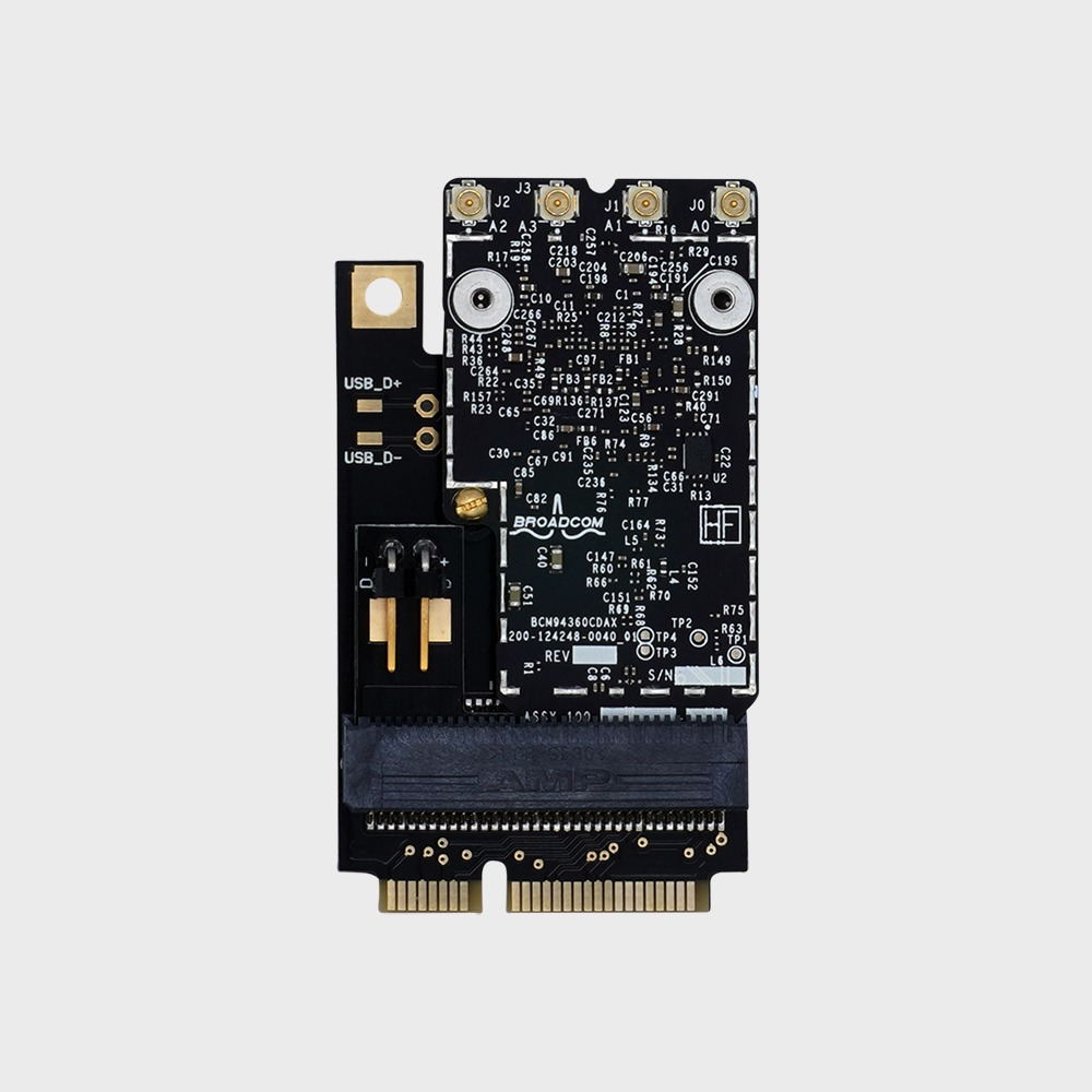 Mac Pro 2009 (4,1) and Mac Pro 2010-2012 (5,1) - Apple Broadcom BCM94360CD  - 802 11 a/b/g/n/ac with Bluetooth 4 0